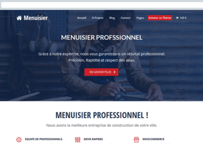 artisan menuisier site internet creation
