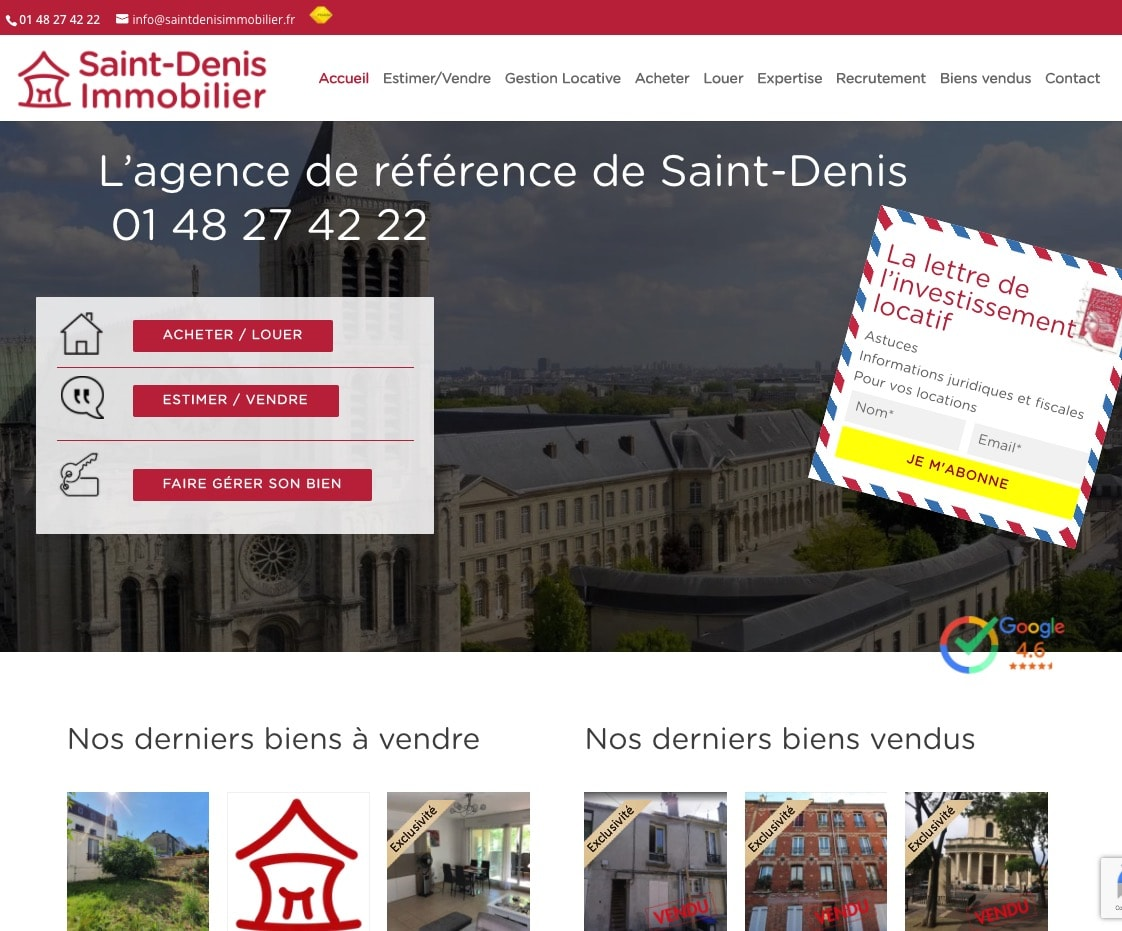 creation de site agence immobiliere