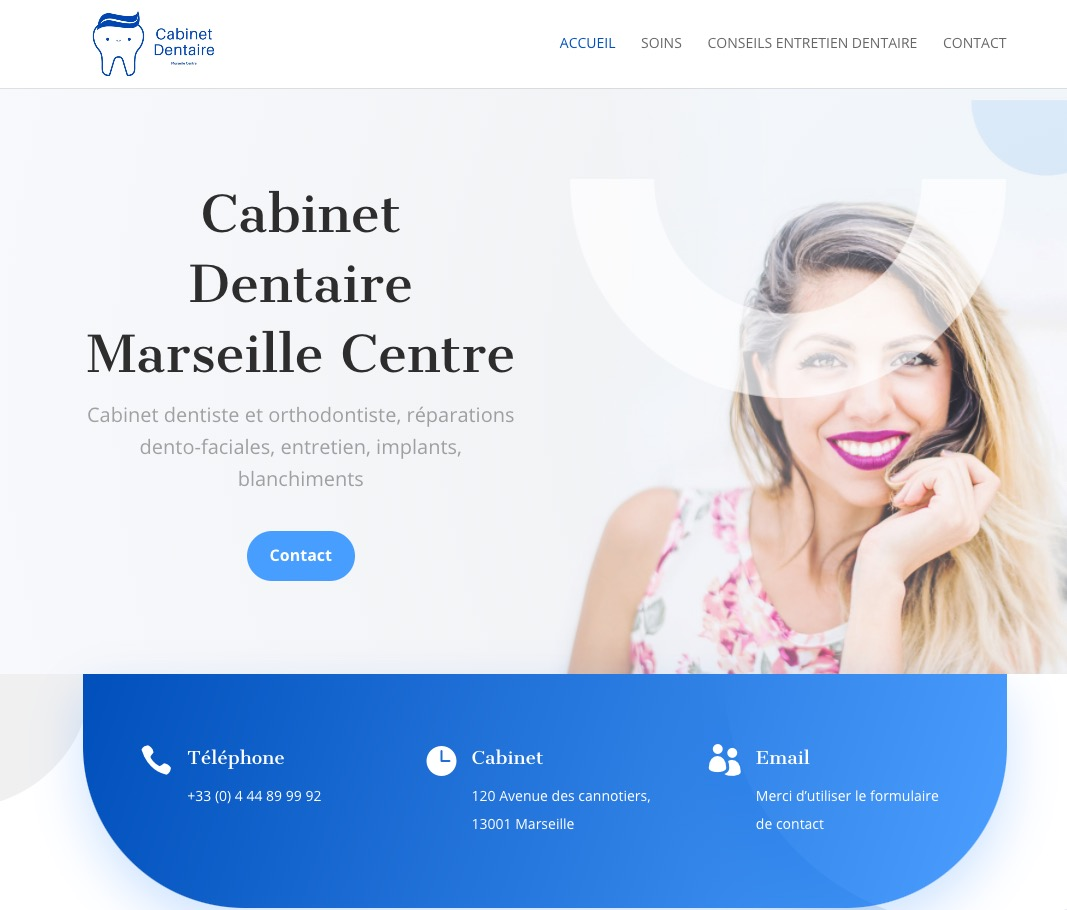 creation site dentiste